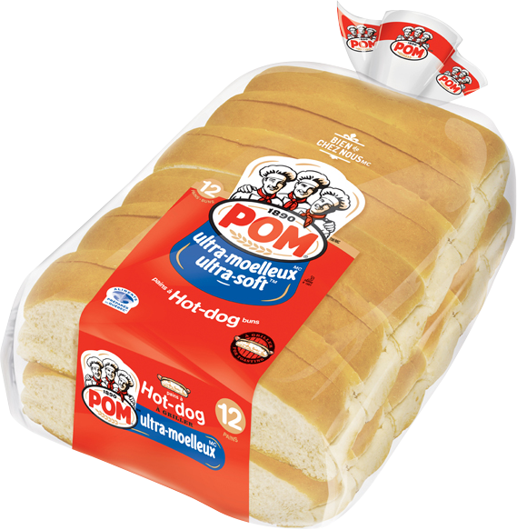 Pom Ultra Moelleux Toasted Hot Dog Buns 12 Pack Pom
